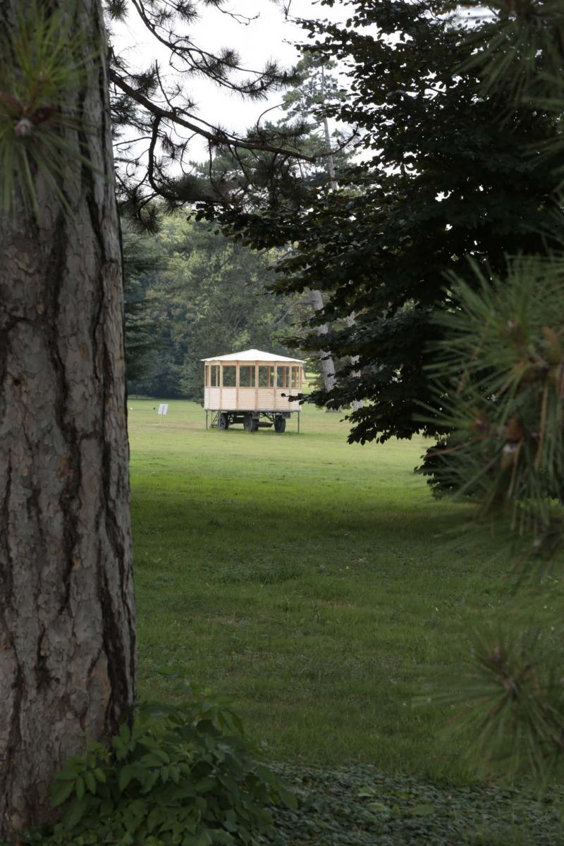 La CMO dans le Parc de Rentilly. Vue de l'exposition Micro-Climat