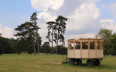 La CMO au Parc de Rentilly. Vue de l'exposition Micro-Climat